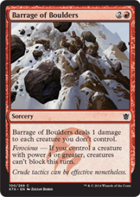 Barrage of Boulders